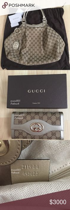 GUCCI SUPREME GG SUKEY BAG & WALLET Will be listing this gorgeous Gucci Supreme GG Sukey Shoulder Bag with matching wallet. Need to clear out my handbag collection. It's in excellent condition as I've only used it a handful of times. Comes with dust cover, sorry no box. Matching wallet also included and comes with box. Posh will authenticate for free. More pictures will be uploaded. Like this listing and be notified when it goes live for sale xoxo Gucci Bags Shoulder Bags