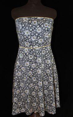 Amanda Bartlett Size 8 Sundress 60's Inspired Black & White Reverse Print Floral #AmandaBartlett #Sundress #Cocktail