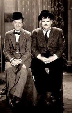 Stan Laurel and Oliver Hardy. Laurel Et Hardy, Stan Laurel Oliver Hardy, Hollywood Actor, Hollywood Stars, Classic Hollywood, Classic Tv, Classic Movies, Comedy Duos, Abbott And Costello