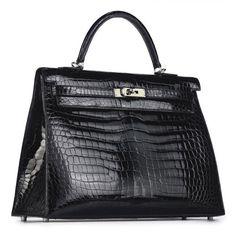 Hermes Kelly Bag in Black Crocodile Hermes Kelly Bag 3aa891af80b97