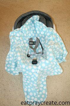 DIY Easy Car Seat Blanket Tutorial - Eat Pray Create