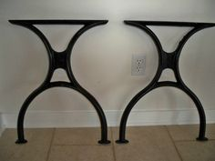 Cast Iron Patio Tables Foter. Tapered Table Legs Set For Zoe Productions  And Etsy