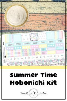Kawaii Summer sticker kit for your Hobonichi (or Fauxbonichi) Weeks. These stickers are printed on the finest matte paper known to man, and kiss cut so they're good to go straight out of the box! Best Planners, Planner Supplies, Hobonichi, Small Shops, Bullet Journals, Life Planner, Erin Condren, Art Market, Getting Things Done