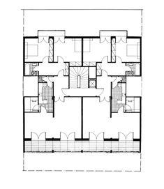 apartment block by Nicos Valsamakis Apartment Layout, Floor Plans, Flooring, Group, How To Plan, Architecture, Ideas, Arquitetura, Hardwood Floor