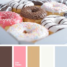 This palette shows how the abundance may look mosaic. Smoky white wedding creates a harmony with purple-pink and greenish-yellow roulades. Light blue rim g. Colour Pallette, Colour Schemes, Color Combinations, Color Harmony, Color Balance, Pastel Palette, Inspiration Design, Colour Board, Natural Styles
