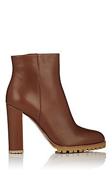 Leather Side-Zip Ankle Boots