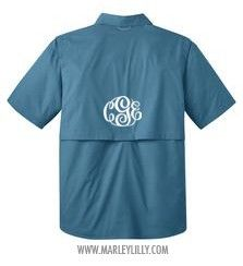 Monogrammed Short Sleeve Fishing Shirt