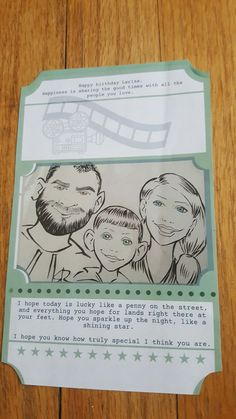 Movie ticket birthday card - back