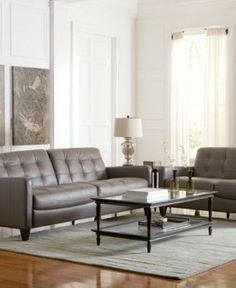 Mia Leather Living Room Furniture Sets U0026 Pieces   Furniture   Macyu0027s