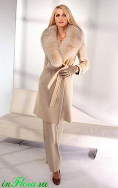 Пальто меховое женское из искусственного