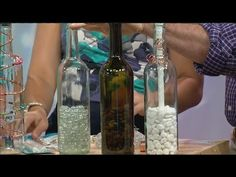 DIY wine bottle 'tiki' torch - YouTube