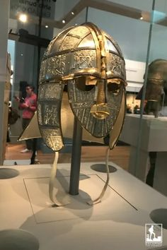 In 1973, the Royal Armouries of England were tasked with creating a replica of the Sutton Hoo helmet, as it likely looked before its 7th century burial. This is that replica. Find this in Room 41 of the upper floor of the British Museum.