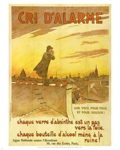 Frédéric Christol (1850-1933) – Affiche sur les dangers de l'absinthe (1909)