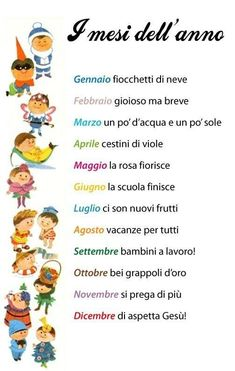 Learning Italian Language ~ I mesi dell'anno (The Months of the Year)Dicembre… Italian Grammar, Italian Vocabulary, Italian Phrases, Italian Words, Italian Quotes, Italian Language, Chinese Language, German Language, Japanese Language