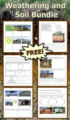 Soil Science, Erosion, Ice Ages, and Glaciers Unit Homework Science Worksheets, Science Curriculum, Science Resources, Science Lessons, Lessons For Kids, Science Projects, Science Ideas, Science Biology, Science Activities