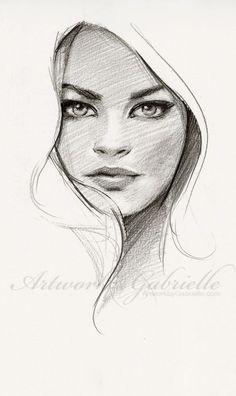 blklacenglitz: gabbyd70: 25 min sketch from ref :) Just wanted to draw I love this! Gorgeous Sketch! #DrawingFaces