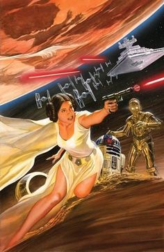 "marvel1980s: ""Princess Leia by Alex Ross """
