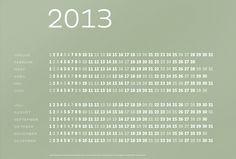 Typografischer Kalender 2013