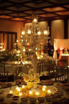 elegant candleabra centerpiece