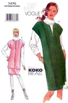 Vogue 7470 Cool Cat Jumper, Tunic, Top & Skirt 2001