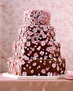 Cherry Blossom Chocolate Cake