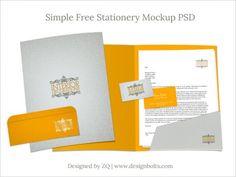 Free Stationery Mockup PSD | (Letterhead, Business Card, Folder & Envelop)