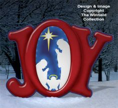 Glowing Joy Nativity Woodcraft Pattern. Great idea for a card with the nativity center