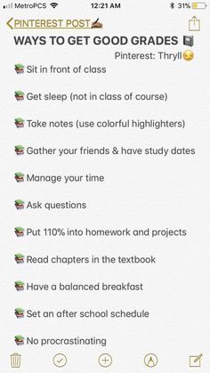 I basically do the opposite of all of these and still get good grades lmao Middle School Hacks, High School Hacks, Life Hacks For School, School Study Tips, Back To School Tips, College Study Tips, College Goals, School Routine For Teens, School Routines