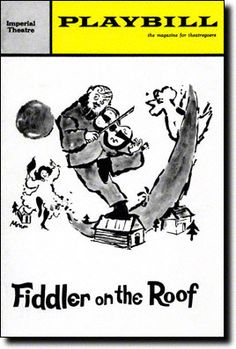Playbill Cover for Fiddler on the Roof at Imperial Theatre - Sept 1964