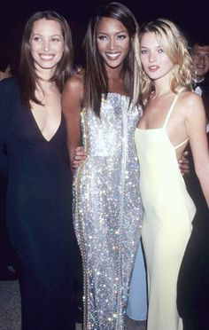 Girls we absolutely adore! Christy Turlington, Naomi Campbell and Kate Moss