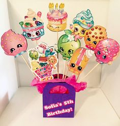 Hey, I found this really awesome Etsy listing at https://www.etsy.com/listing/240863618/shopkins-party-decoration-centerpiece