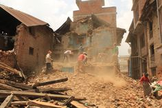 Incredible image from the Nepal earthquake. So thankful for the thousands of people who provided resources and man power to help rebuild. #LoveDoes #RestoreNepal
