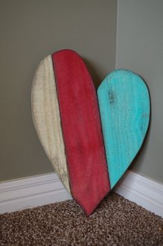 How To Make Money Woodworking From Home Projects That Sell Colorful recycled pallet heart rustic handmade heart. The post How To Make Money Woodworking From Home Projects That Sell appeared first on Pallet Diy. Wood Projects For Beginners, Diy Wood Projects, Woodworking Projects, Teds Woodworking, Pallet Crafts, Wooden Crafts, Diy Crafts, Recycled Pallets, Wood Pallets