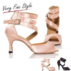 Women Satin Ballroom Dance Shoes High Heel Latin