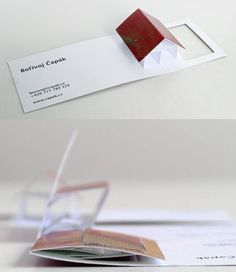 Pop-up business cards