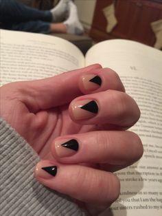 Edgy, minimalist manicure. Loving it!!