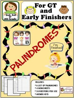 Worksheets Palindrome Riddles Worksheet precommunity printables worksheets page 269 palindrome riddles worksheet palindromes pack for gt and early finishers list sentences gtorearlyfinisherspalindromefunfor2nd