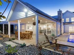 Hamptons-Style House Design - Storybook Designer Homes House Deck, Facade House, House Exteriors, House Facades, Hamptons Style Homes, The Hamptons, Custom Home Designs, Custom Homes, Melbourne
