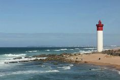 30 of the Best Lighthouses in the World - Contented Traveller Durban South Africa, North Coast, Lighthouses, Us Travel, Landscape Paintings, Travel Destinations, World, City, Lights