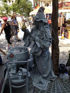 AGNES THE WITCH< Living Statue, Halloween Week, Brisbane, Australia. Hoozatt? Entertainment, Brisbane.