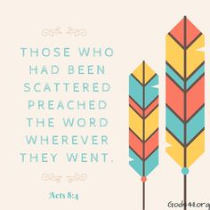 Acts 8:4 | Bible Verses
