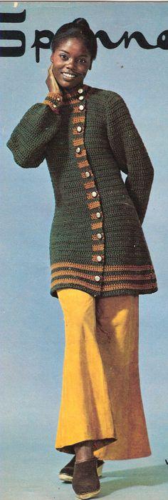 Crochet Coat Pattern   PICNIC by suerock on Etsy, $4.25