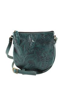 Leaders In Leather Vaquetta Crossbody Turquoise Lufli 79