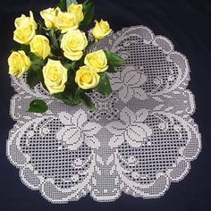 Filet Crochet Table topper Patterns in European Style. Online Crochet patterns you print from your computer. Designed by Hartmut Hass. Crochet Placemats, Crochet Doily Patterns, Tatting Patterns, Crochet Motif, Crochet Designs, Crochet Doilies, Filet Crochet, Crochet Art, Crochet Home