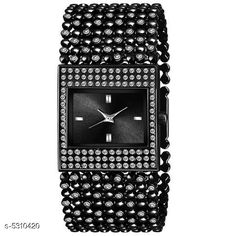 Checkout this latest Analog Watches Product Name: *New Trendy Women's Watch* Strap Material: Metal Date Display: No Dial Color: Black Dial Shape: Square Dual Time: No Gps: No Light: No Multipack: 1 Sizes:  Free Size Country of Origin: India Easy Returns Available In Case Of Any Issue   Catalog Rating: ★4.1 (202)  Catalog Name: New Trendy Women's Watch CatalogID_788686 C72-SC1087 Code: 372-5310420-015