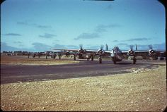 Consolidated B-24J Liberator  of the 493rd BG, 862 BS, taxiing prior to take off to a mission in Summer 1944 from Debach, England. Photo by Mark Brown (USAF) ============================= Fallow my partner @ww2livinghistory ============================= #ww2 #wwii #wwiiincolors #wwiicolor #aviation #aviationlovers #airforce #usaf #aviationphotography #usaf #airforce #aircraft #airplane #waraircraft #military #history #WarBird #B24 #Liberator #Consolidated