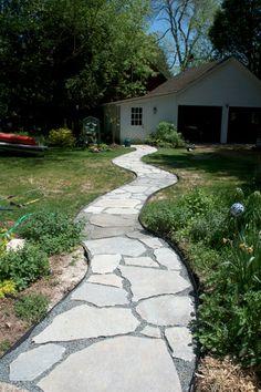 flagstone path. love this.