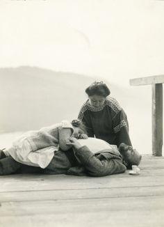 Gustav Klimt, Therese Flöge and Gertrude, Austria, 1912