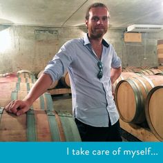 """""""I worked around the world making wine. This year I moved back to my hometown to surround myself with family and start my own wine company. How do I take care of myself? Family is key. Drinking wine with family is ideal."""" #wine #france #paris #globetrotter #family #love #selfcare #wisdom #inspiration #vineyard #quote #simple"""