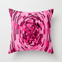 PINK+WORLD+Throw+Pillow+by+Catspaws+-+$20.00